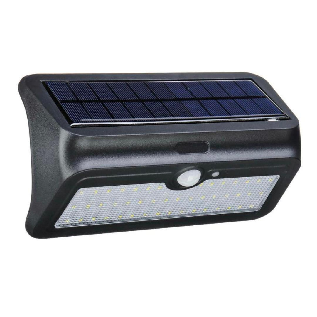 4x 46 Led Solar Power Motion Sensor Wall Light Outdoor Yard Garden Lamp Waterpro
