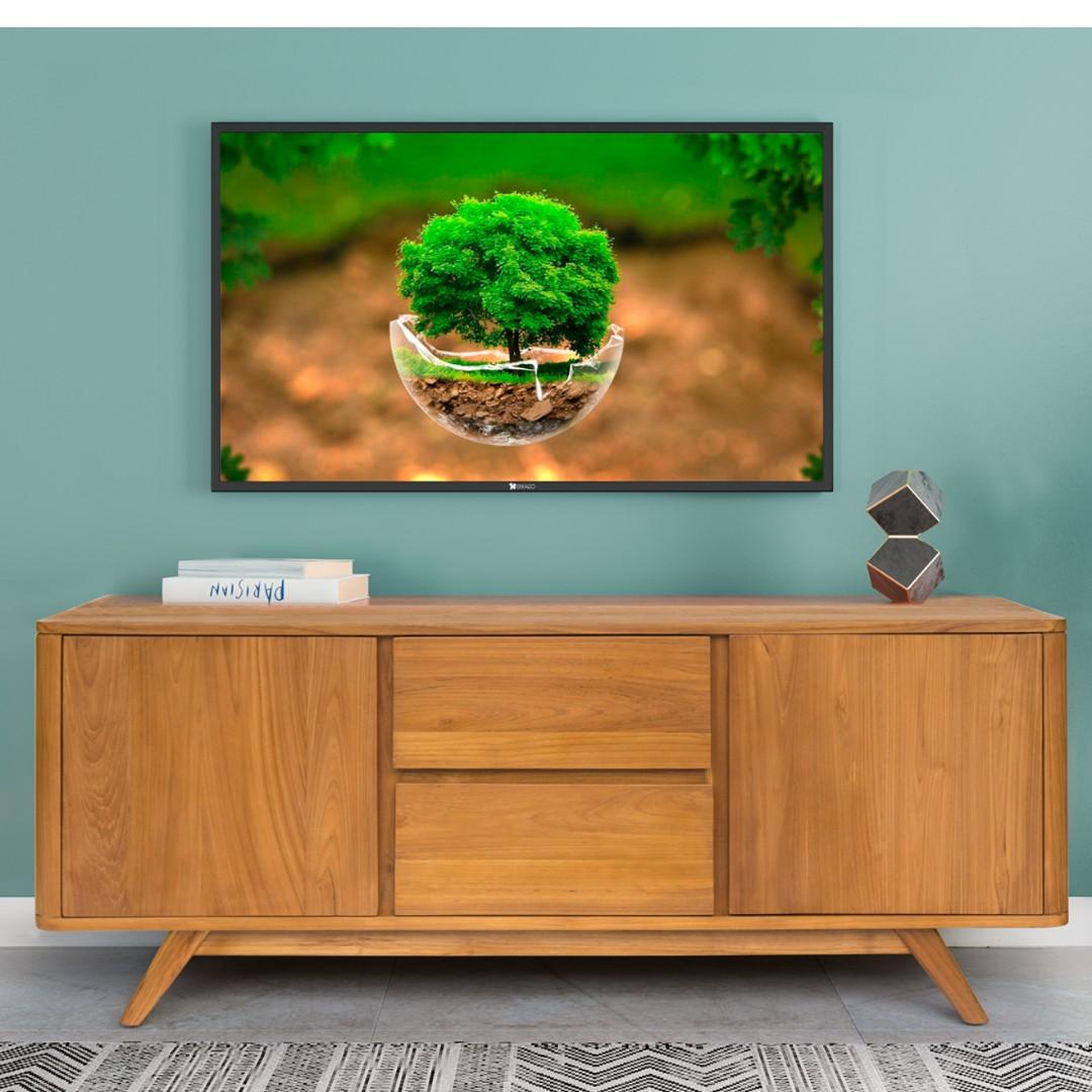 Svein 150cm Solid Teak Wood Tv Console Sideboard Cabinets Furniture Shelves Drawers On Carousell
