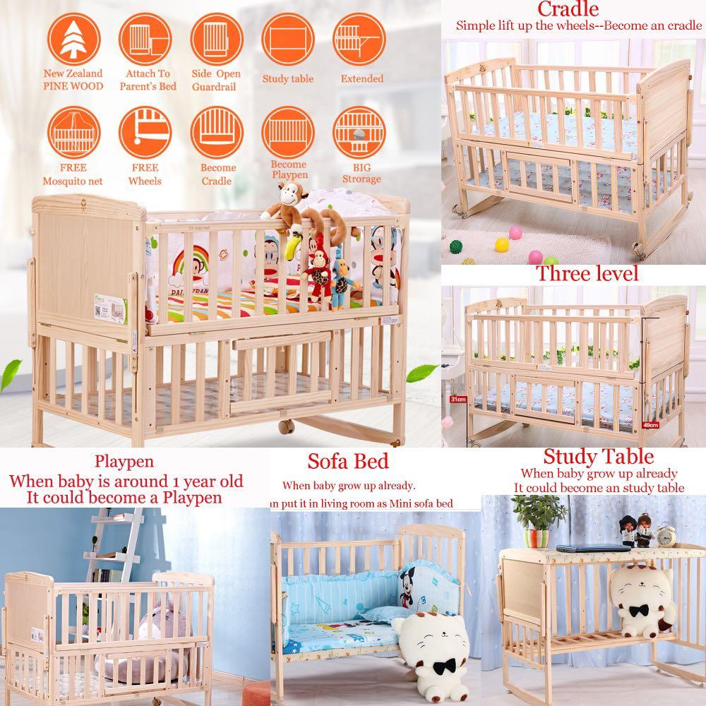Baby Cots That Attach To Beds Baby Cot Bed Bedding Mattress Offer Limited Stock Brand New