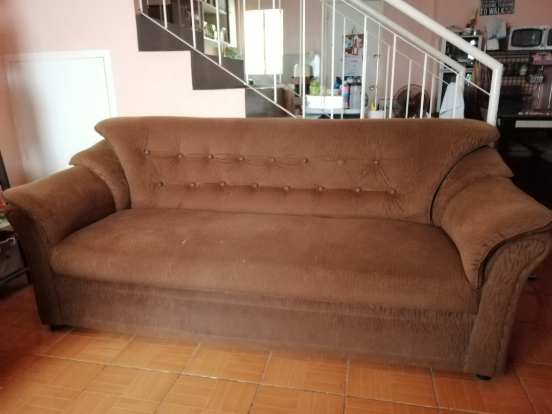 Complete Sofa Set In Brown For Sale Furniture Home Living Furniture Sofas On Carousell
