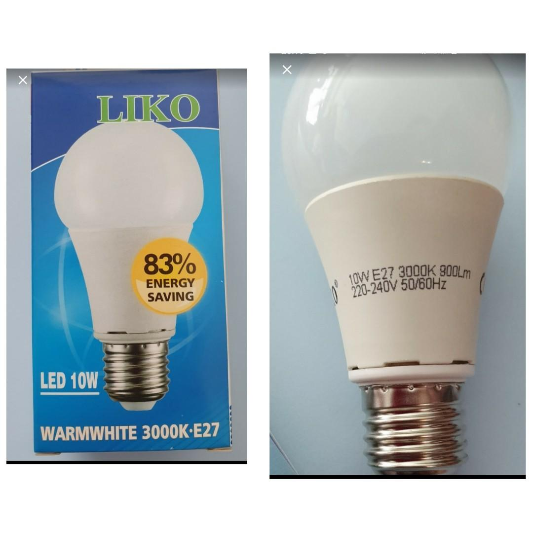 Led E27 10w Light Bulb Liko Furniture Others On Carousell