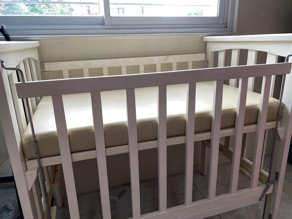 Baby Wooden Crib Good As New Actual Picture Babies Kids Baby Nursery Kids Furniture Cots Cribs On Carousell