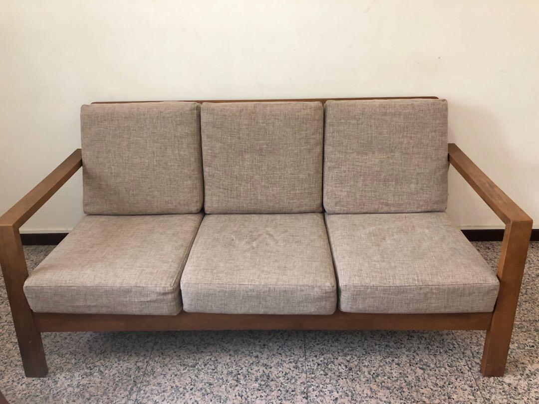Buy This Now Immediate Sale Grey Couch Sofa Fabric Furniture Sofas On Carousell