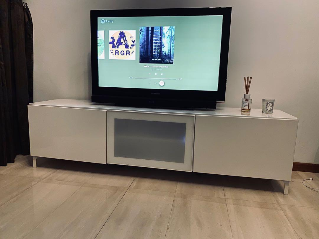 Ikea Tv Console Free Tv With Purchase Furniture Shelves Drawers On Carousell