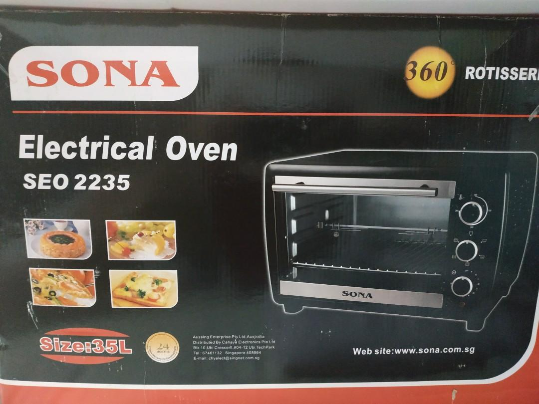 Sona Seo 2235 35l Electric Oven Home Appliances Kitchenware On Carousell