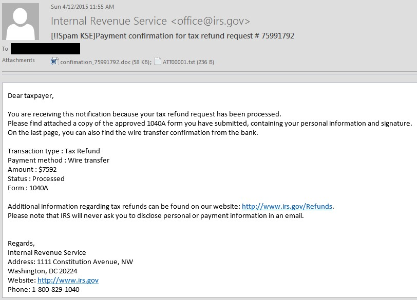Your Tax Refund with a Data Kidnapping Twist! - Securelist