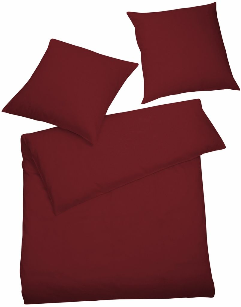 Interlock Jersey Bettwäsche Bordeaux Rot Uni Kaufland De