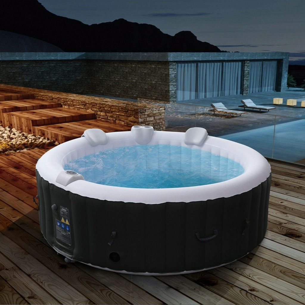 Arebos In Outdoor Whirlpool Spa Pool Rund 6 Kaufland De