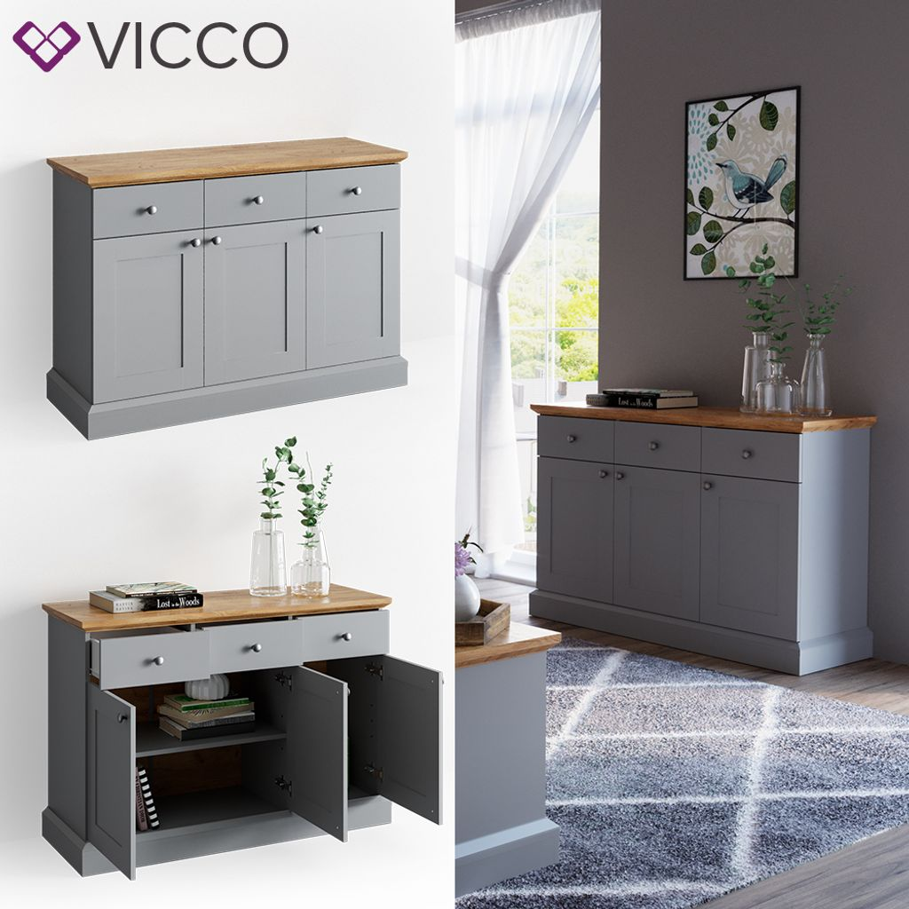 Highboard Landhaus Vicco Sideboard Cambridge Kommode Schrank | Kaufland.de