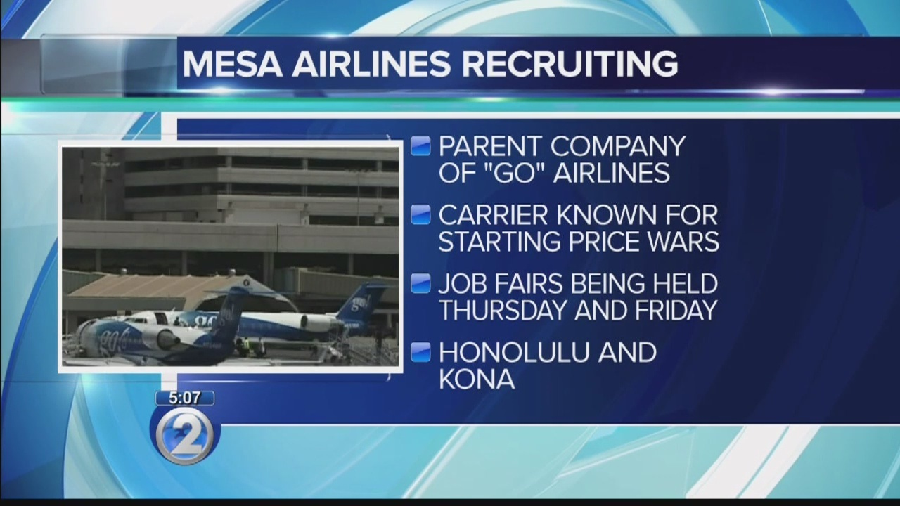 Mesa Airlines Mesa Airlines Holds Hiring Events For Pilots In Kailua Kona Honolulu