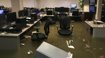 Photos: KHOU 11 studios flood during Harvey   khou.com