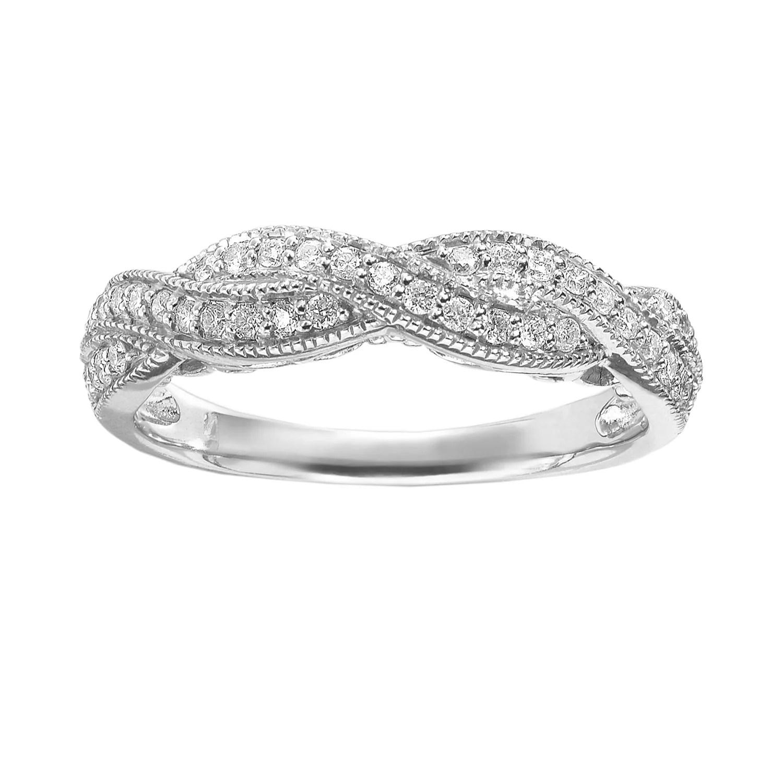 simply vera vera wang rings jewelry kohls wedding bands Simply Vera Vera Wang Diamond Twist Engagement Ring in 14k White Gold 1 3