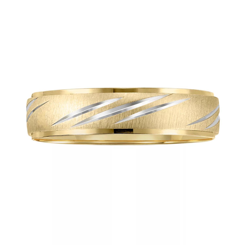 cherish always 10k gold two tone wedding band men kohls wedding bands Cherish Always 10k Gold Two Tone Wedding Band Men