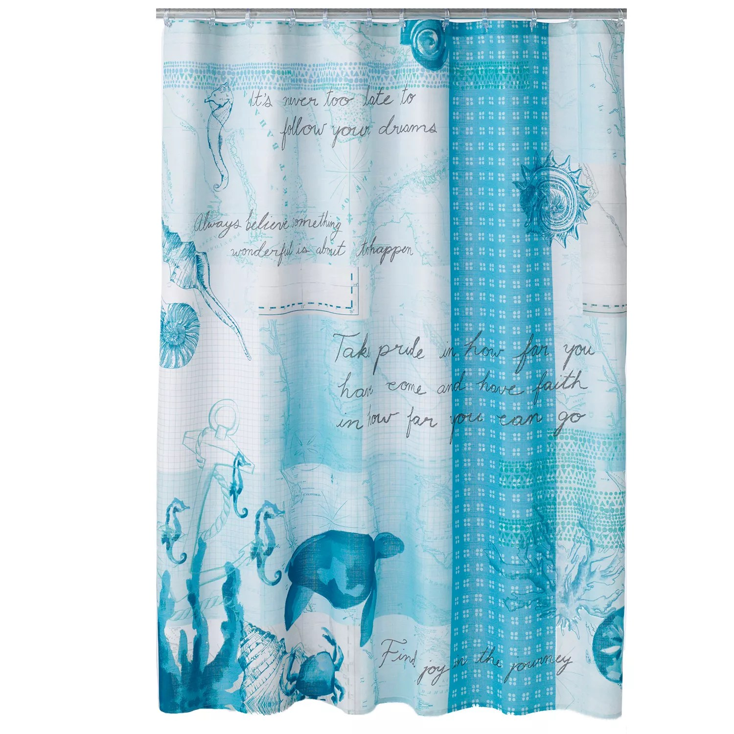 Kohls Com Shower Curtains Sonoma Goods For Life Shoreline Fabric Shower Curtain