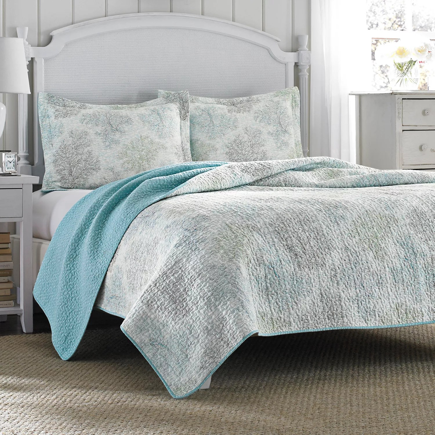 Coverlets For Sale Laura Ashley Lifestyles Saltwater Reversible Quilt Set