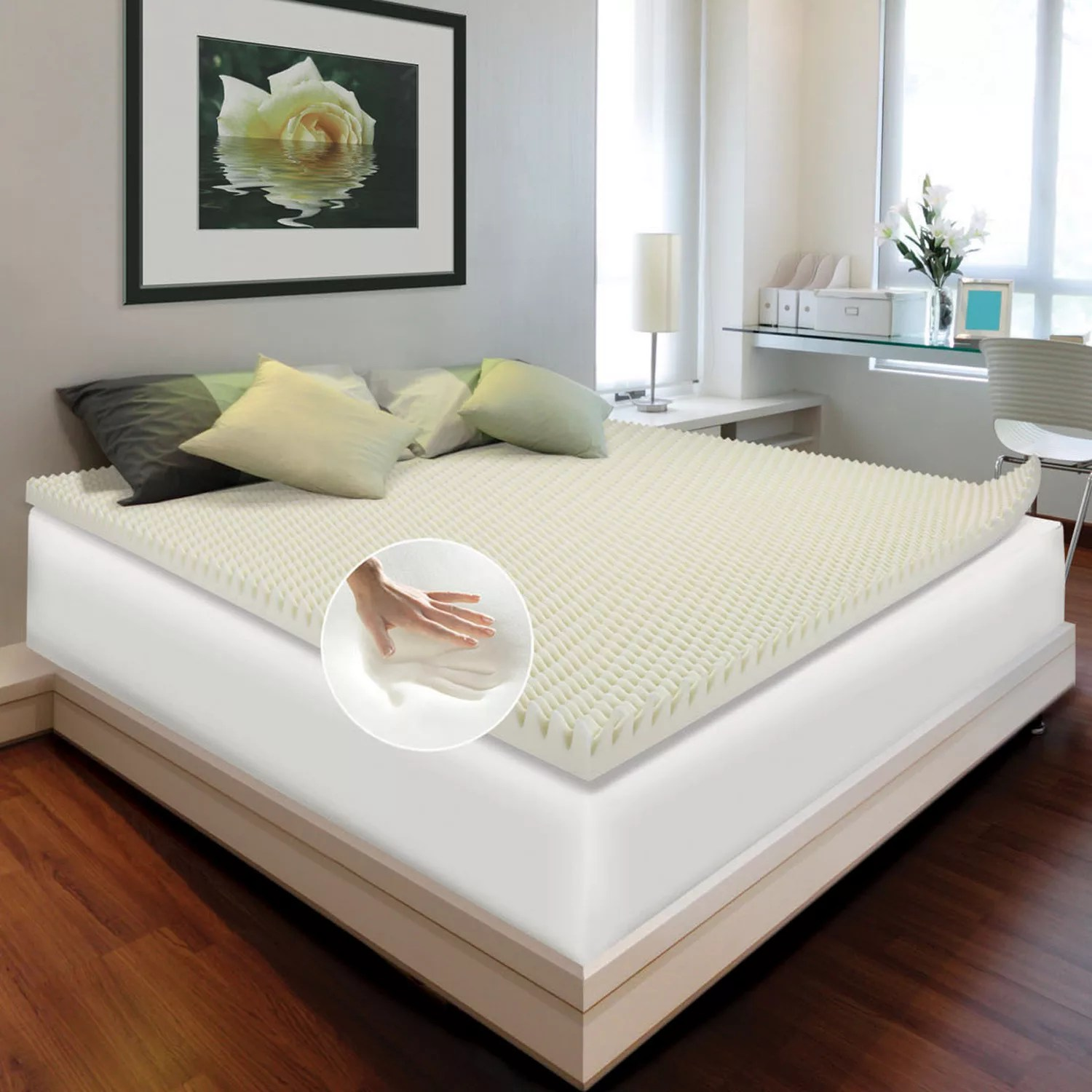 Memory Foam Mattress Toppers Enhance Comfort Loft 4 Inch Memory Foam Mattress Topper