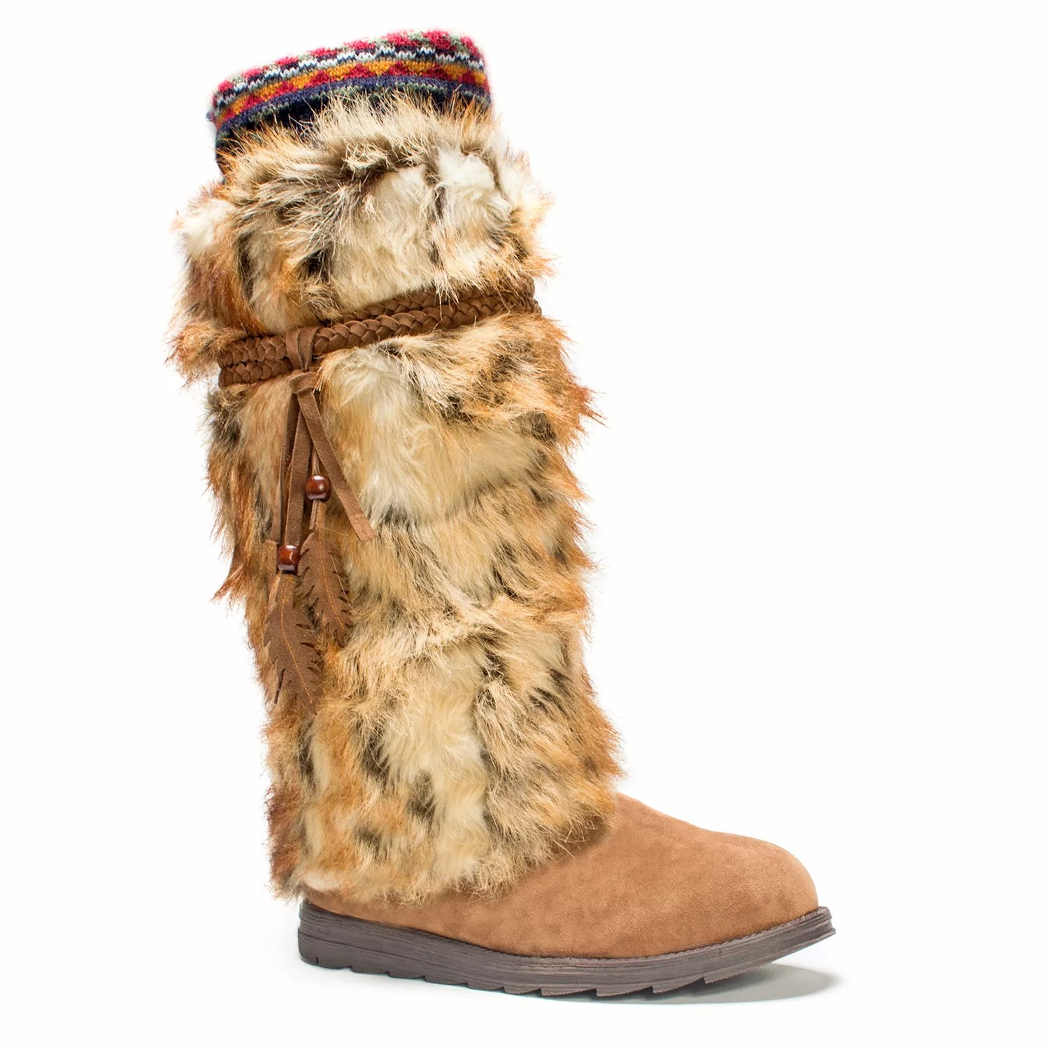 Fur Womens Muk Luks Leela Faux Fur Women S Knee High Winter Boots
