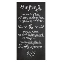 """Our Family\"" Canvas Wall Art 