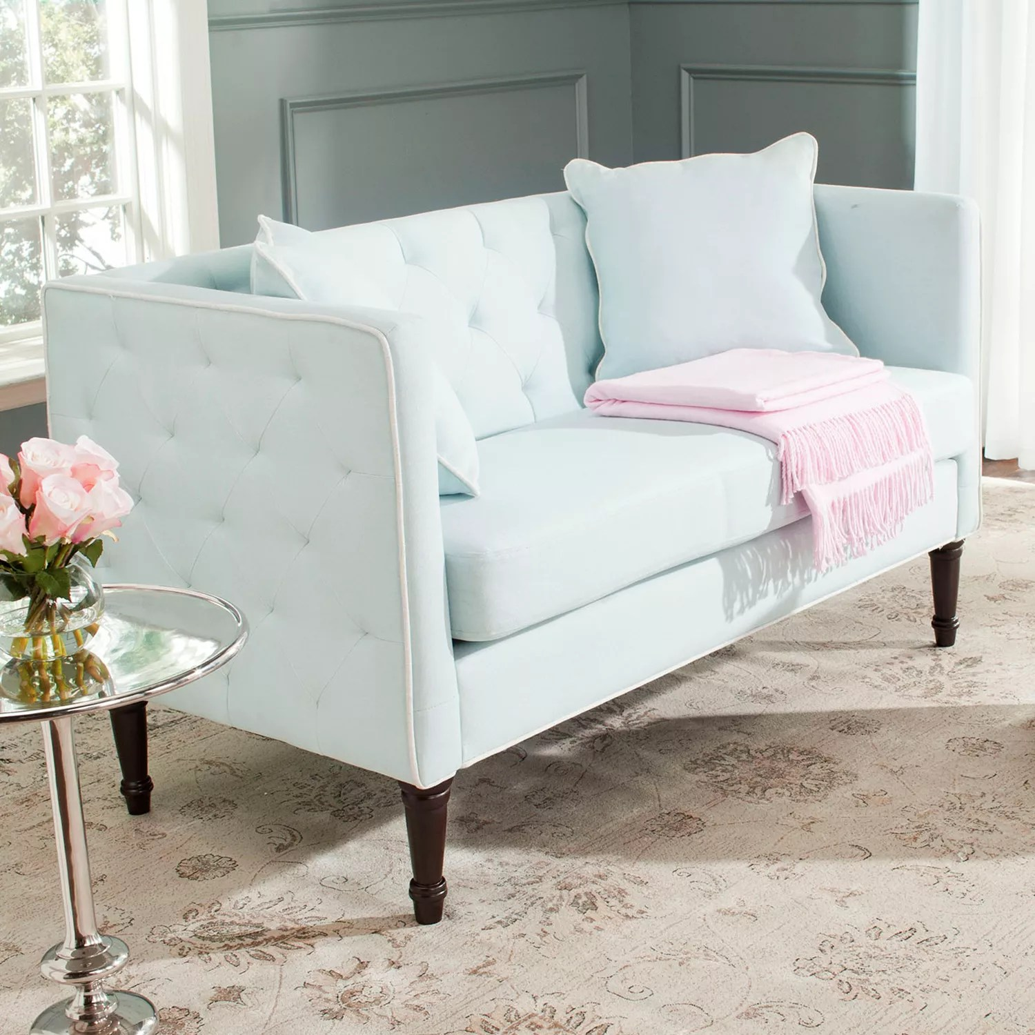 Settee Loveseat Safavieh Sarah Tufted Settee Loveseat