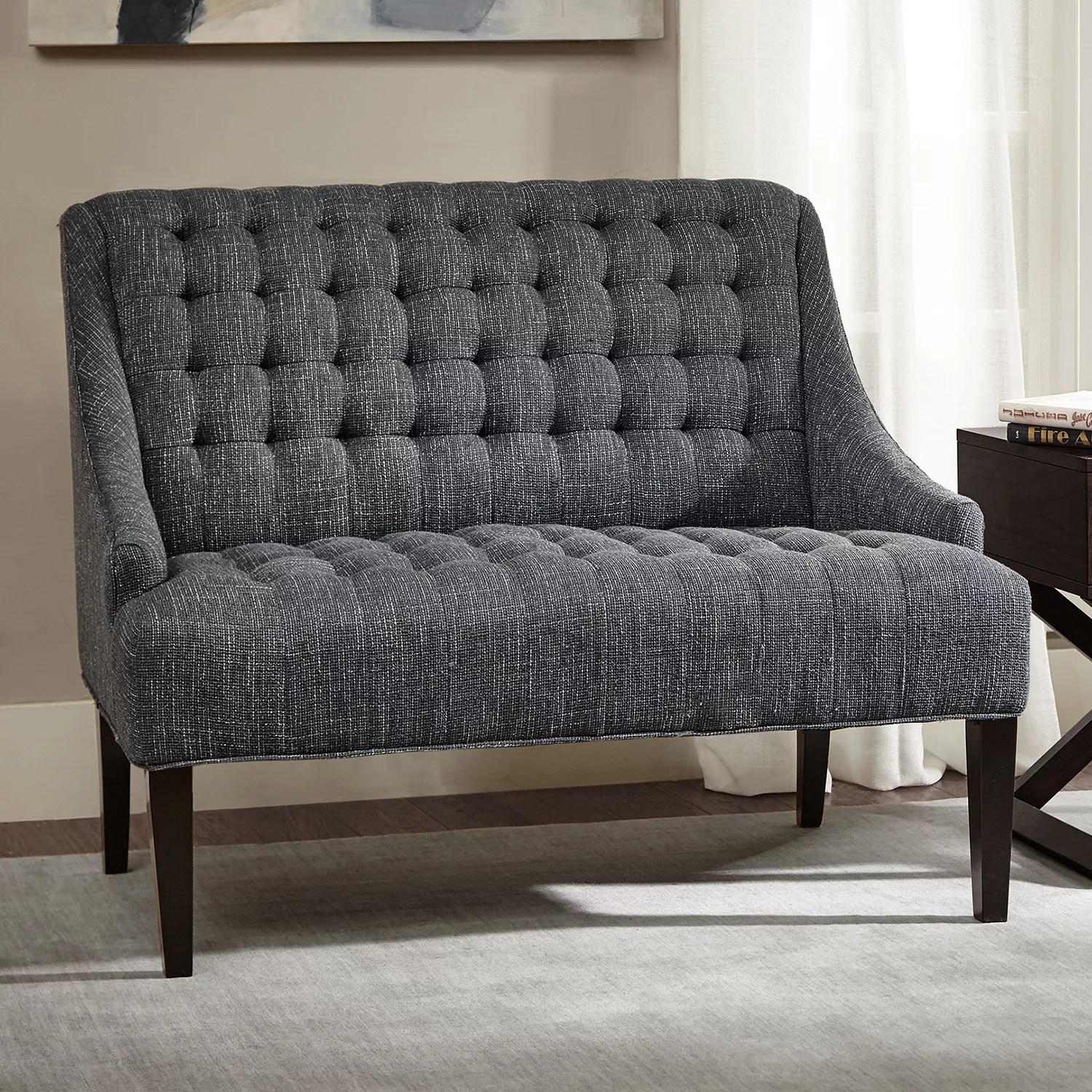 Settee Loveseat Madison Park Bernay Button Tufted Settee Loveseat