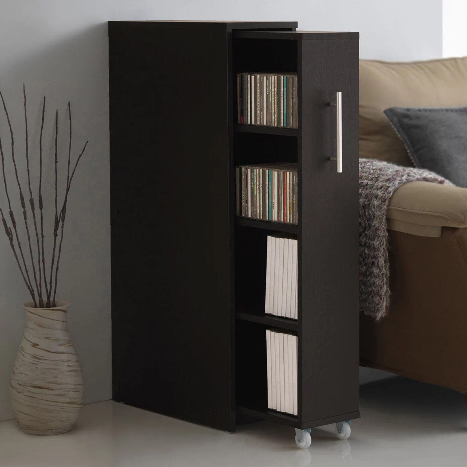 Bookcase Cabinet Baxton Studio Lindo Bookcase Single Pull Out Shelving Cabinet