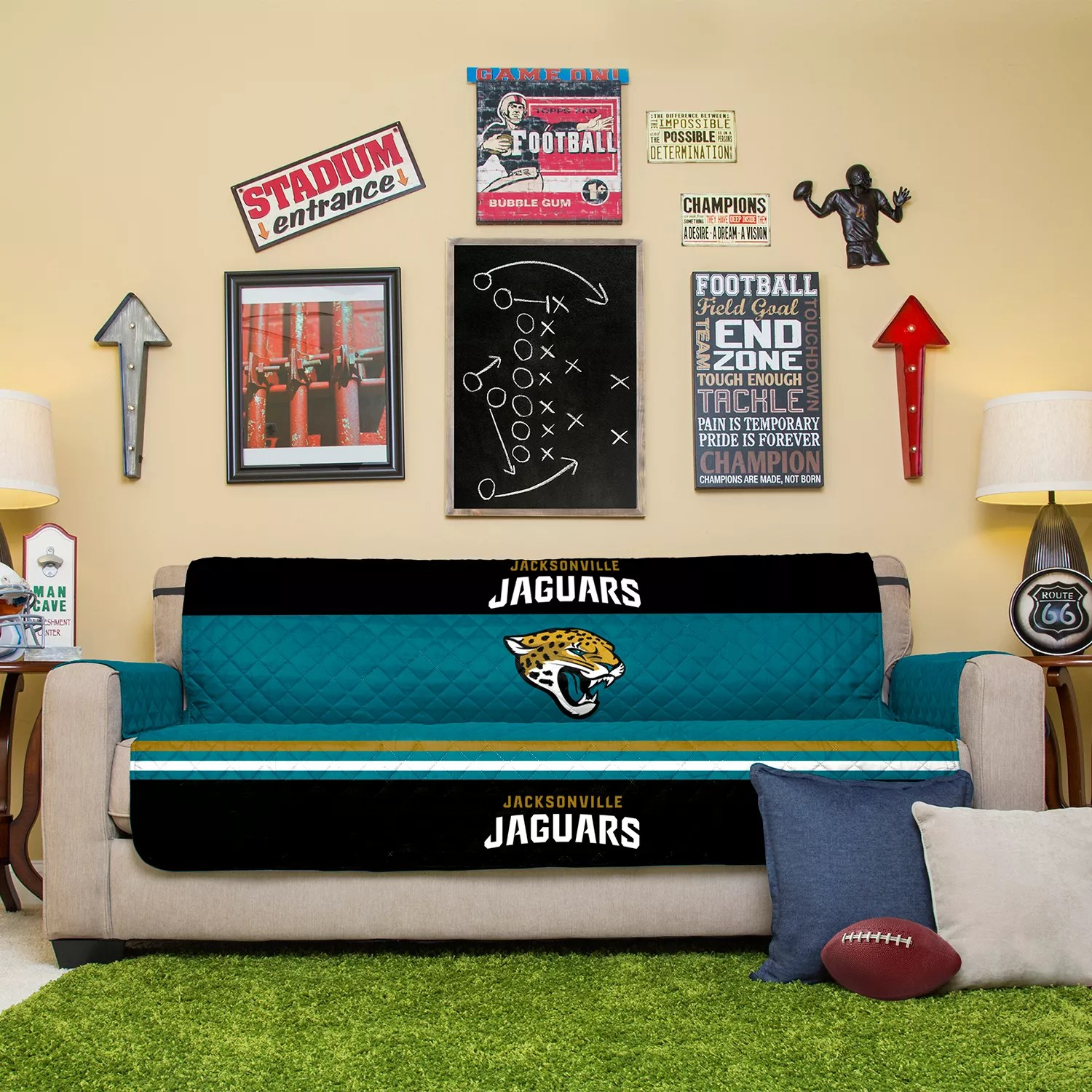 Sofa Jacksonville Xl Jacksonville Jaguars Quilted Sofa Cover