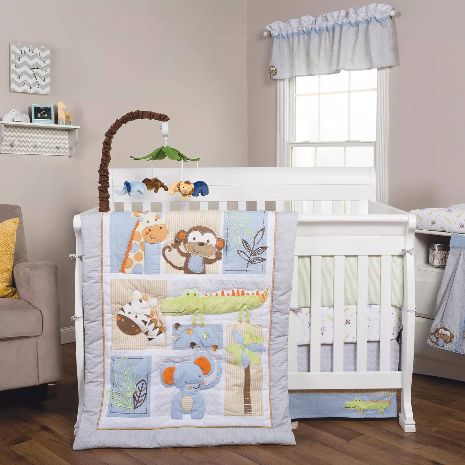 Full Crib Bedding Sets Trend Lab Jungle Fun 6 Pc Crib Bedding Set