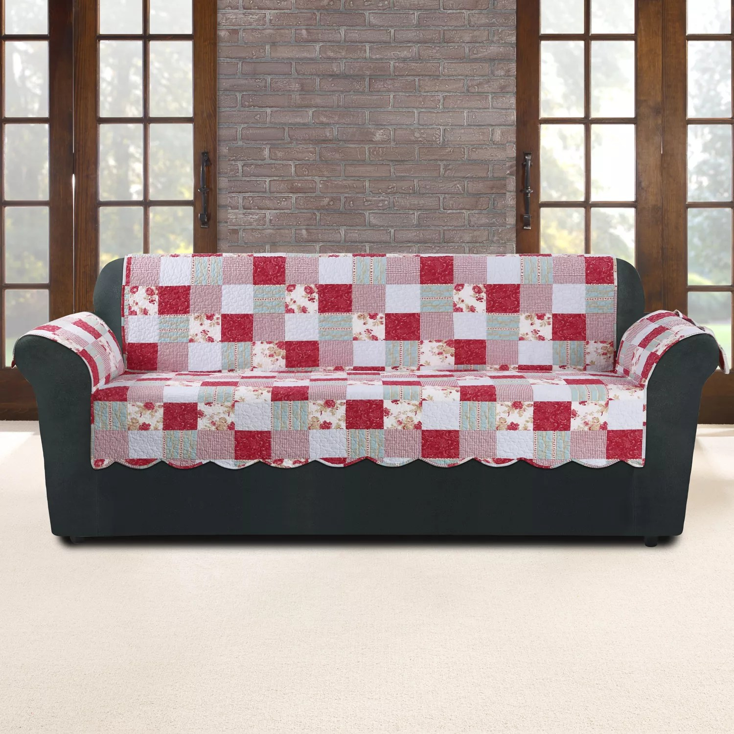 Patchwork Sofa Sure Fit Heirloom Cottage Patchwork Sofa Slipcover