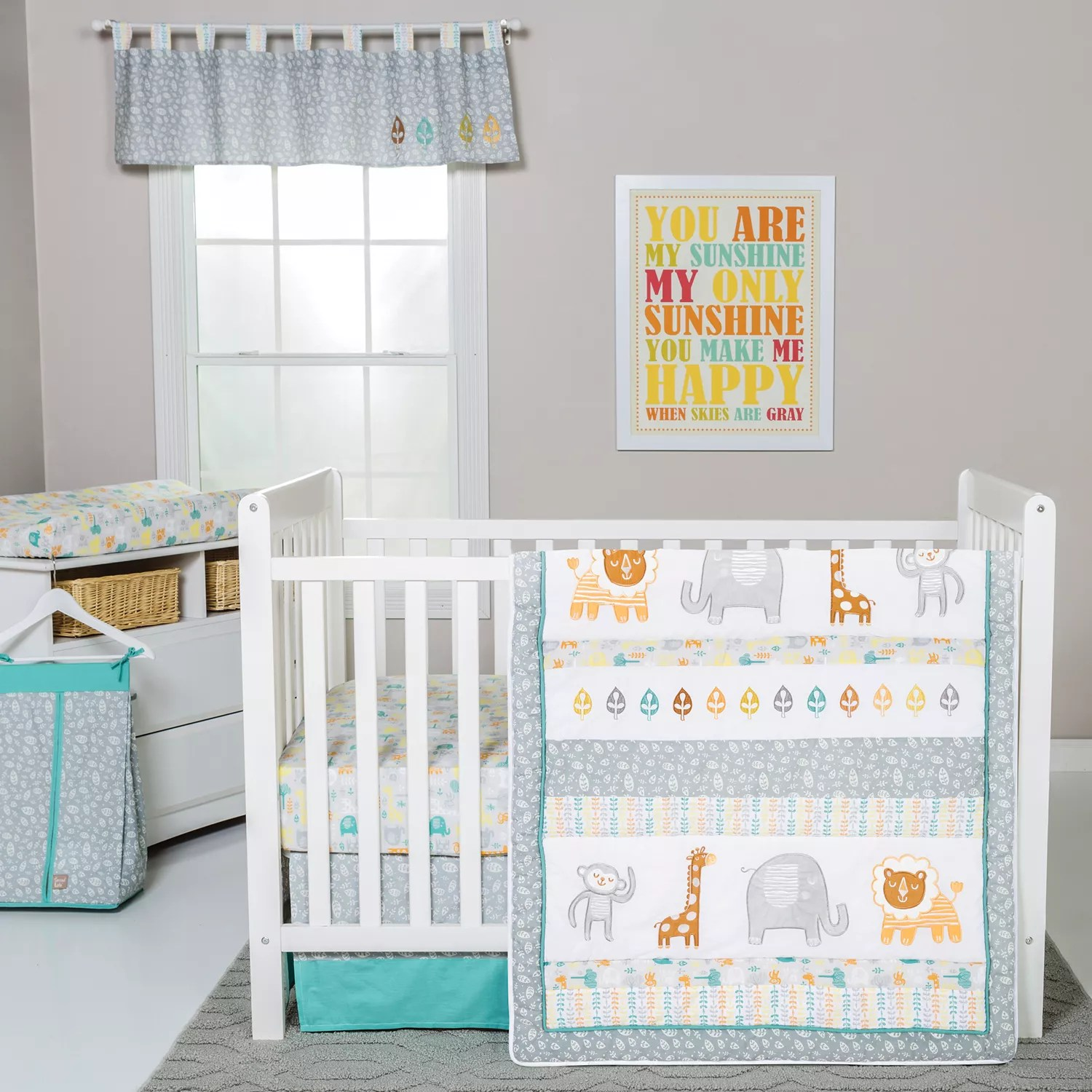 Full Crib Bedding Sets Trend Lab Lullaby Jungle 6 Pc Crib Bedding Set