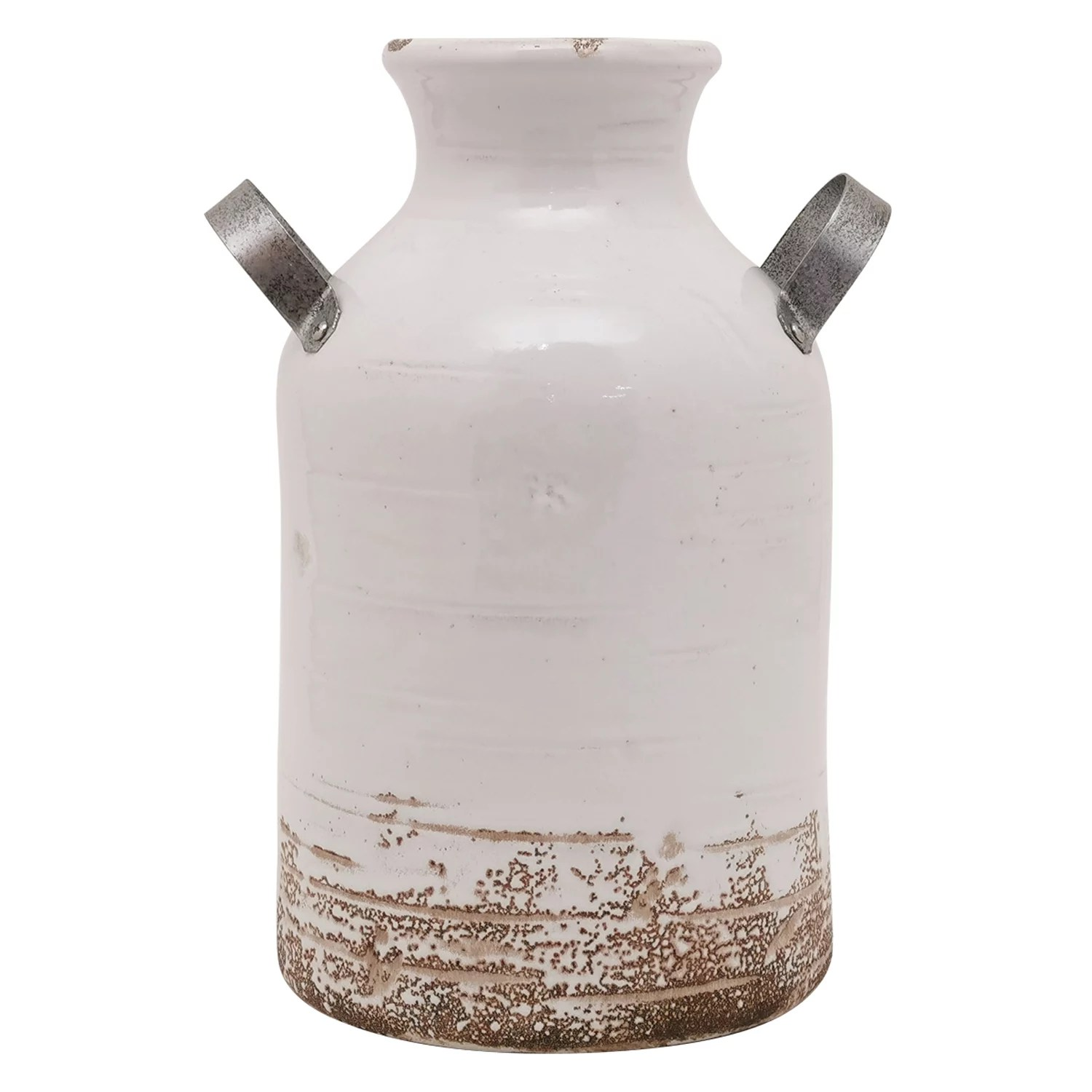 Decorative Milk Urn Sonoma Goods For Life Farmhouse Milk Can Ceramic Vase