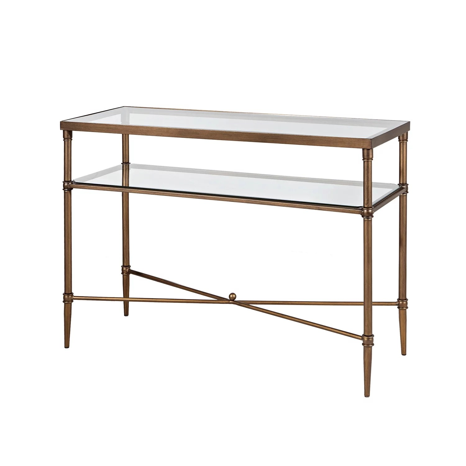 Glass Top Console Table Madison Park Signature Porter Glass Top Console Table