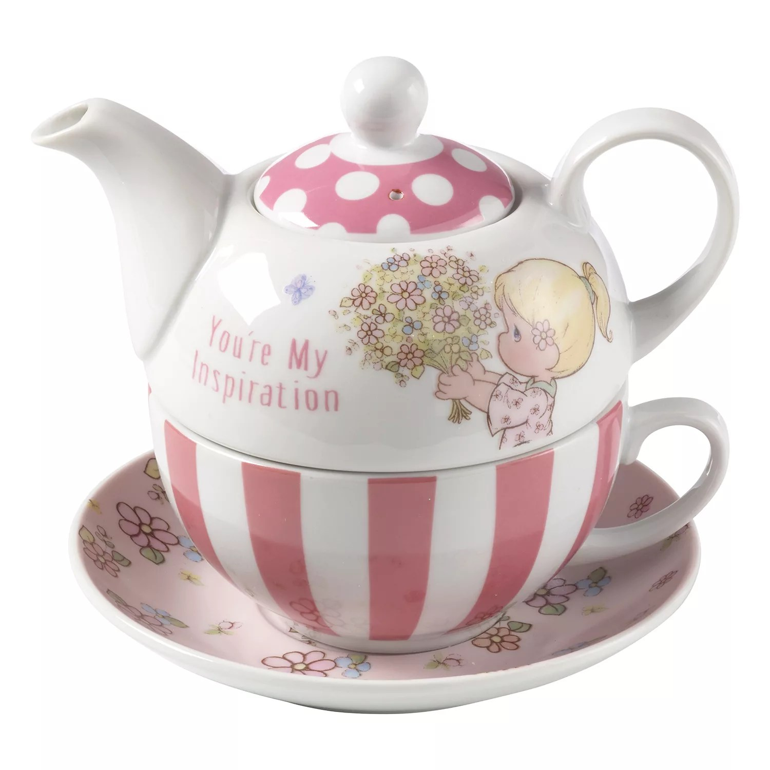 Teapot With Cup Precious Moments