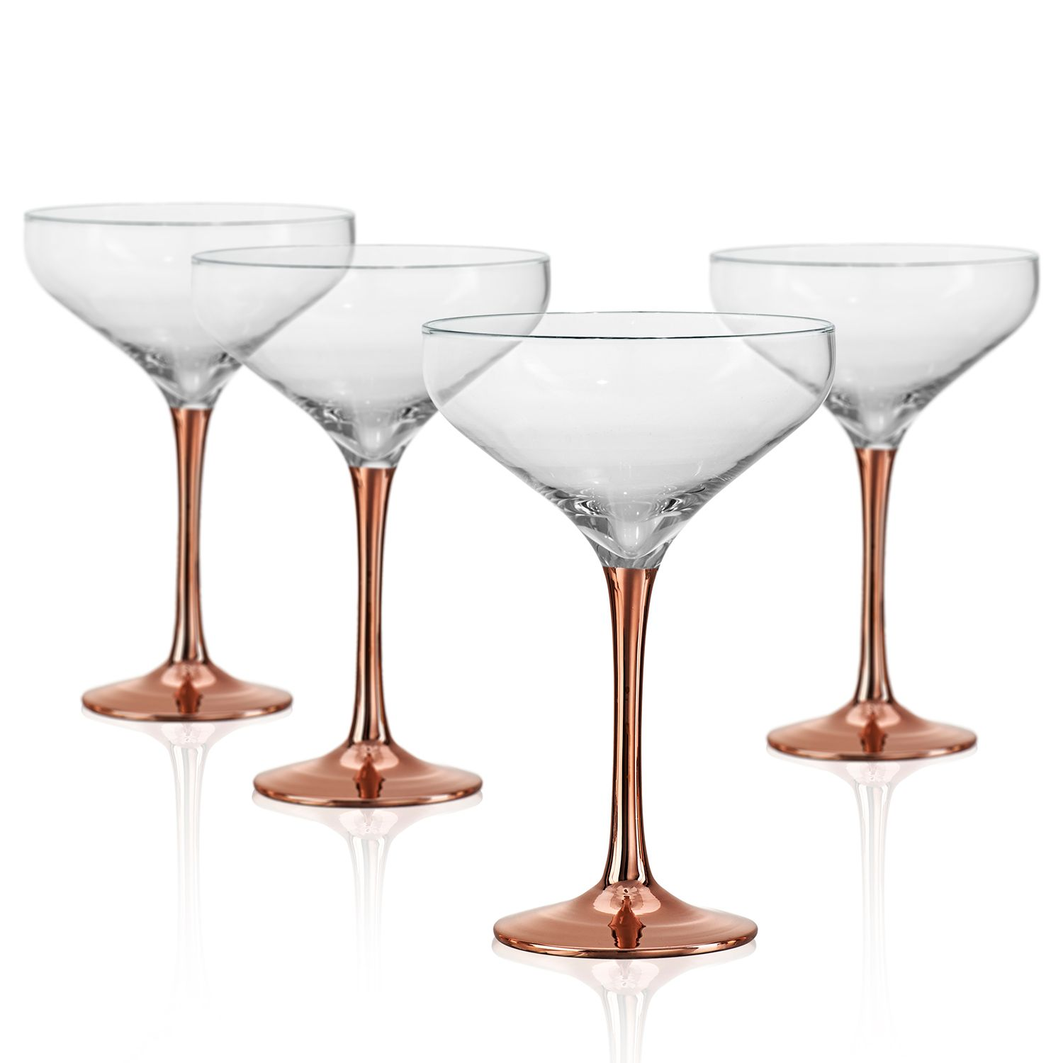 Champagne Coupe Artland Coppertino 4 Pc Champagne Coupe Set