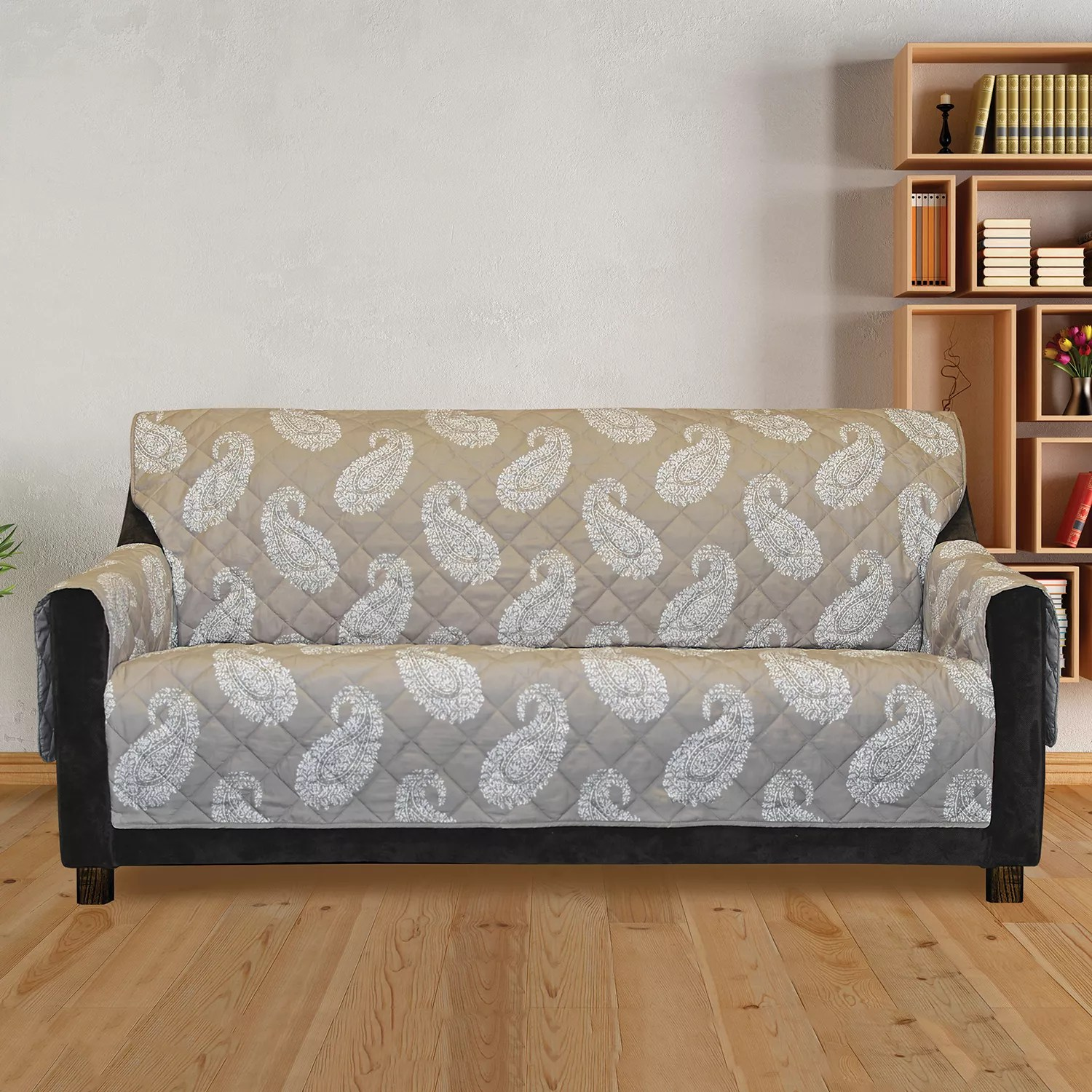 Fitted Slipcovers Couches Sure Fit Furniture Flair Paisley Sofa Slipcover