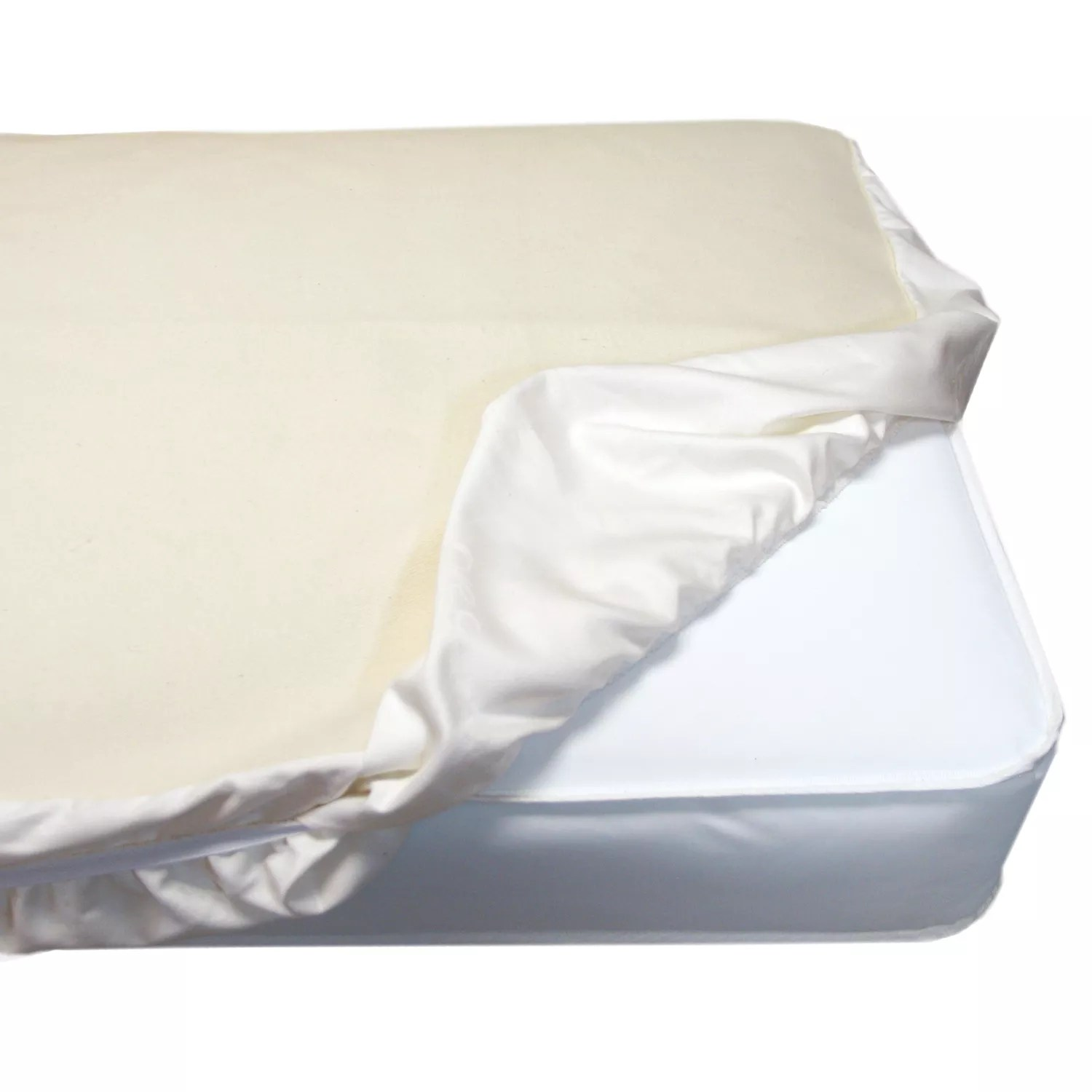 Comfy Mattress Naturepedic Organic Cotton Crib Mattress Fitted Protector Pad