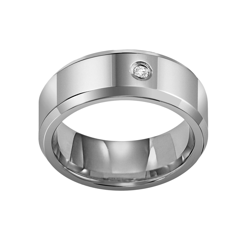 cherish always tungsten carbide diamond accent wedding band men tungsten carbide wedding band Cherish Always Tungsten Carbide Diamond Accent Wedding Band Men