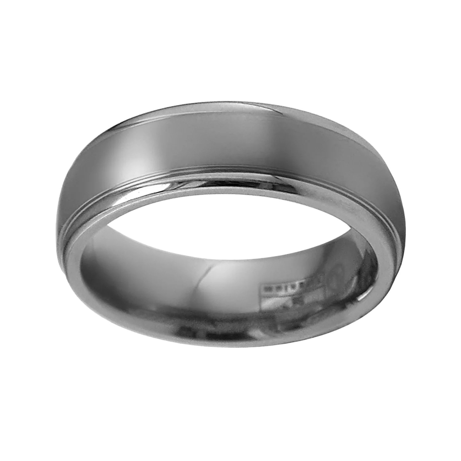 mens titanium wedding bands rings jewelry kohl's wedding rings STI by Spectore Gray Titanium Striped Wedding Band Men