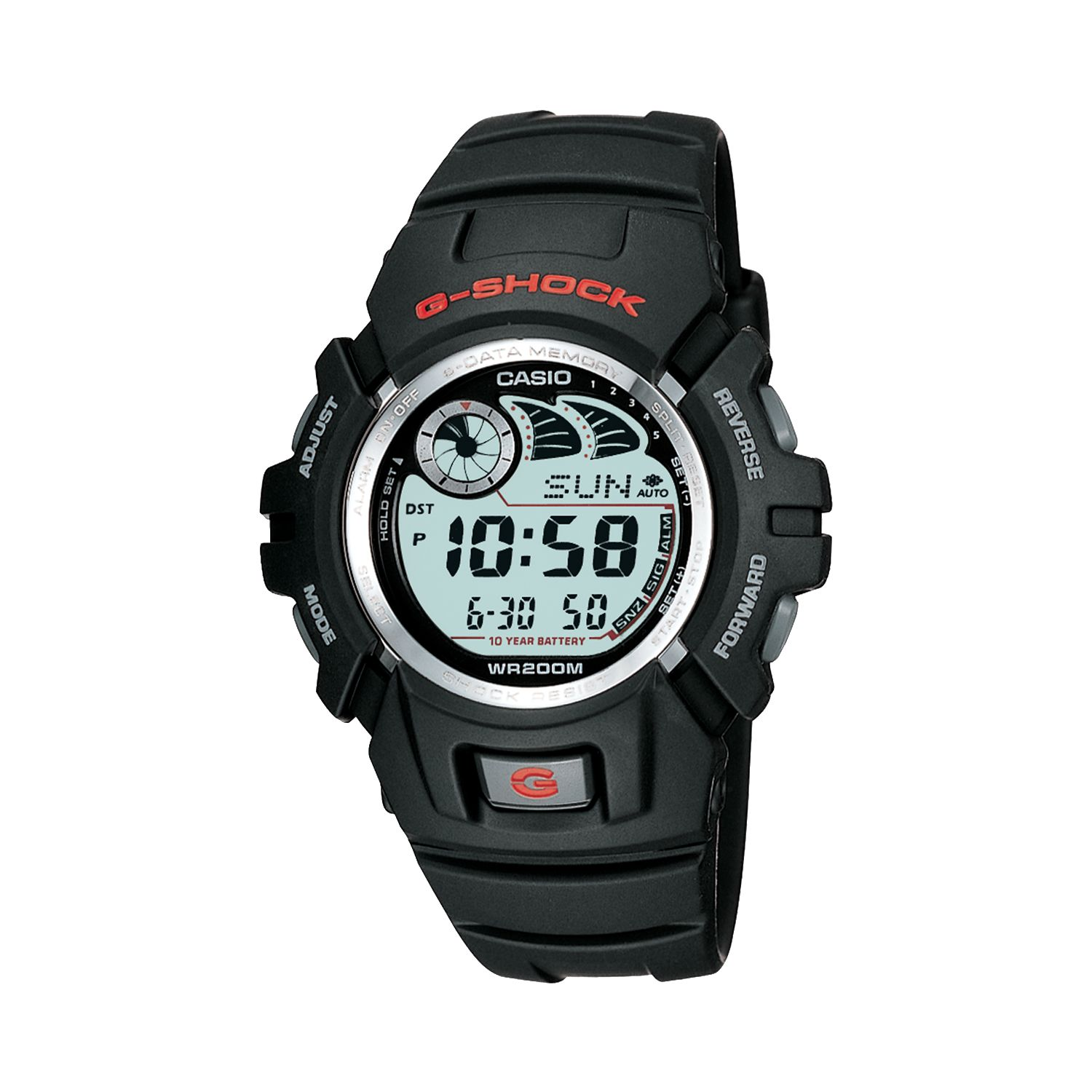 Battery Digital Casio Men S G Shock 10 Year Battery Digital Chronograph Watch G2900f 1v