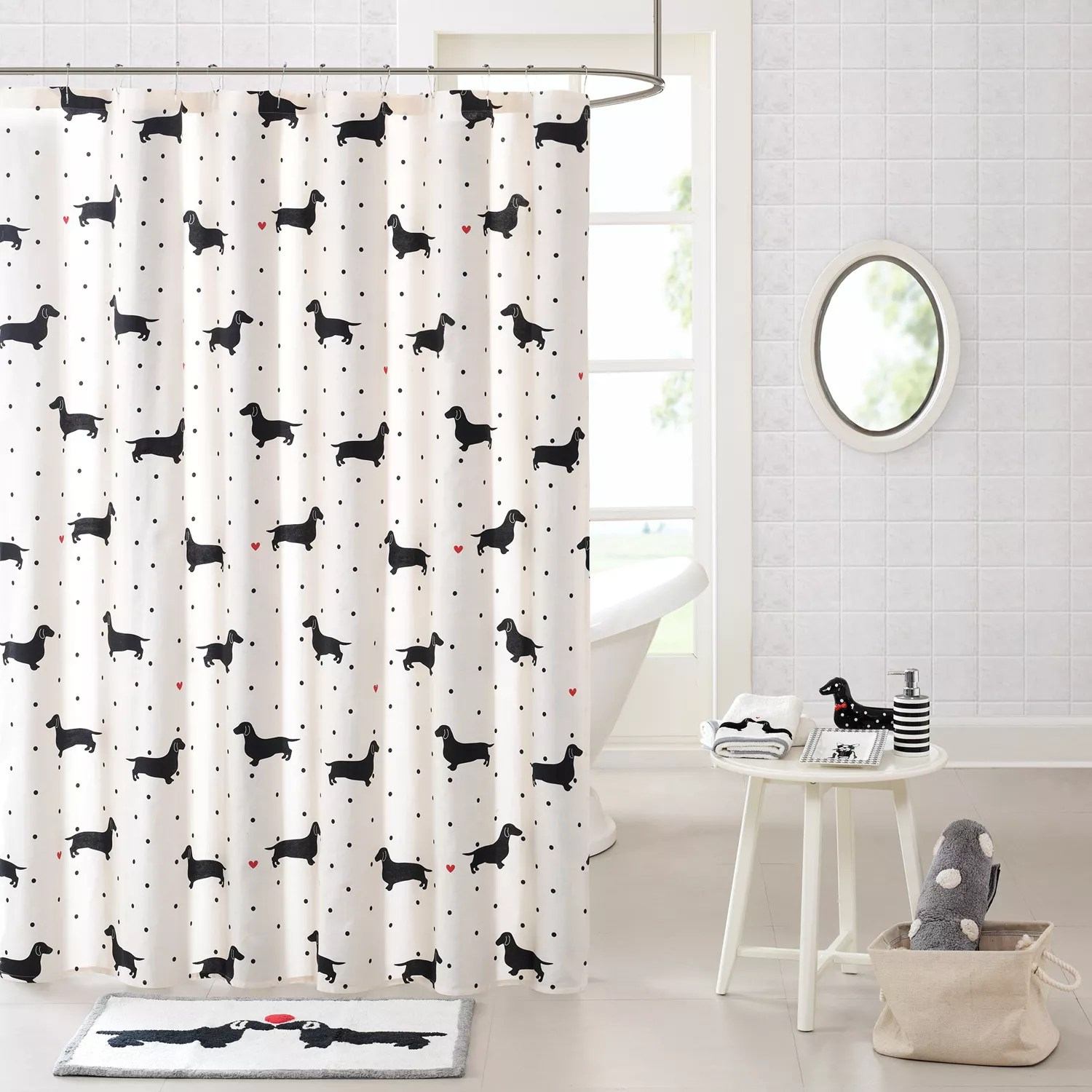 Kohls Com Shower Curtains Hipstyle Hannah Dachshund Shower Curtain Collection