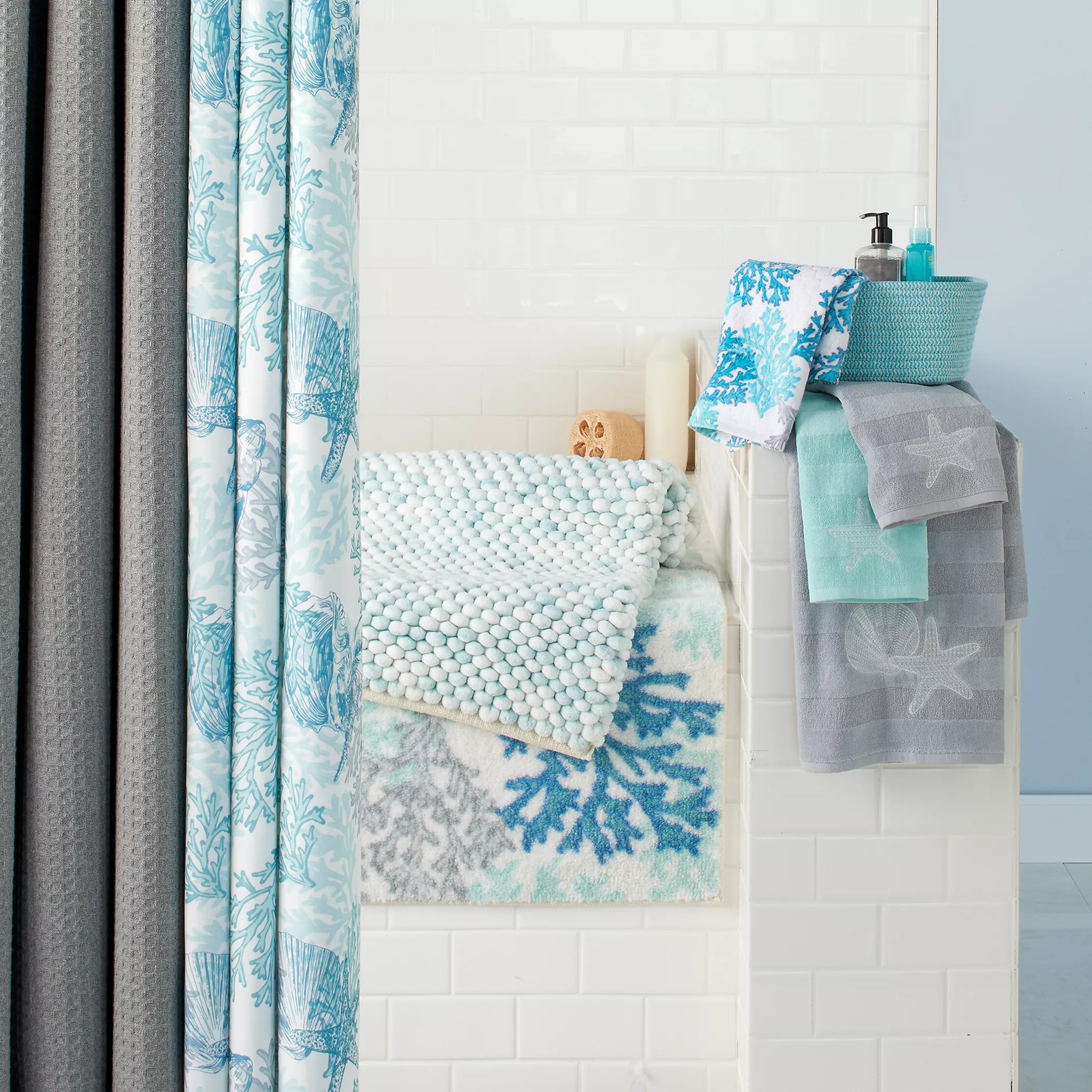Kohls Com Shower Curtains Sonoma Goods For Life Seaside Shower Curtain Collection