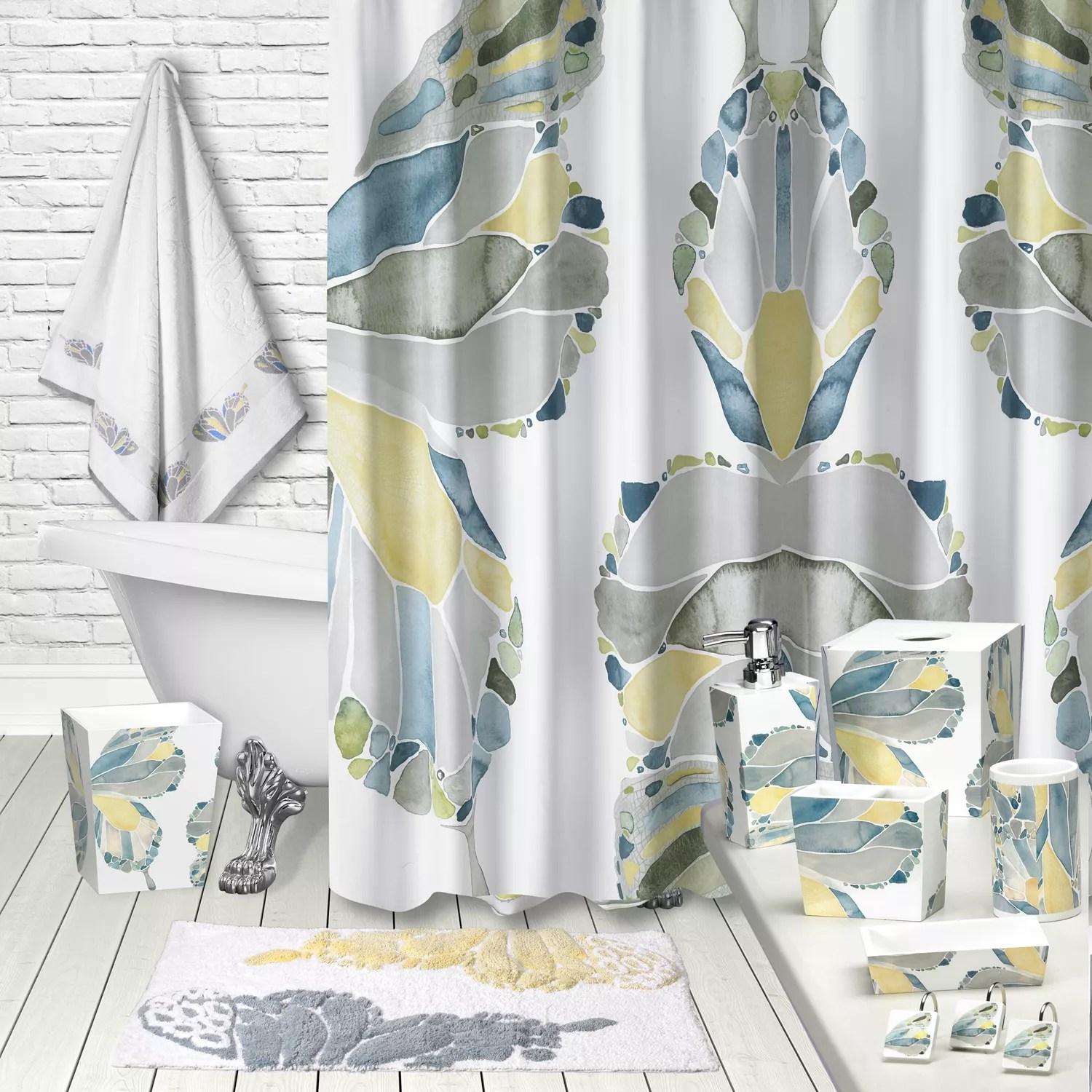 Kohls Com Shower Curtains Popular Bath Butterfly Shower Curtain Collection