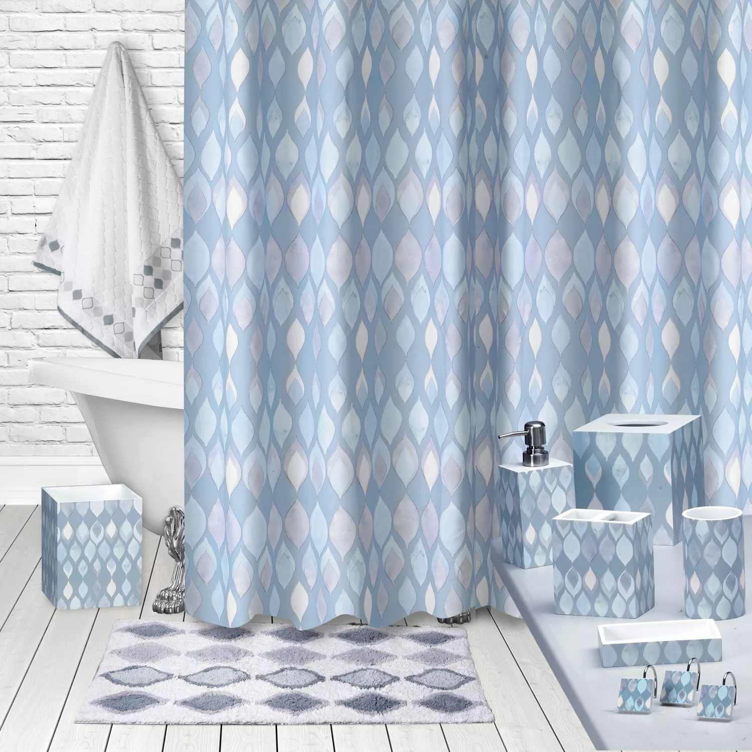 Kohls Com Shower Curtains Popular Bath Sea Glass Shower Curtain Collection