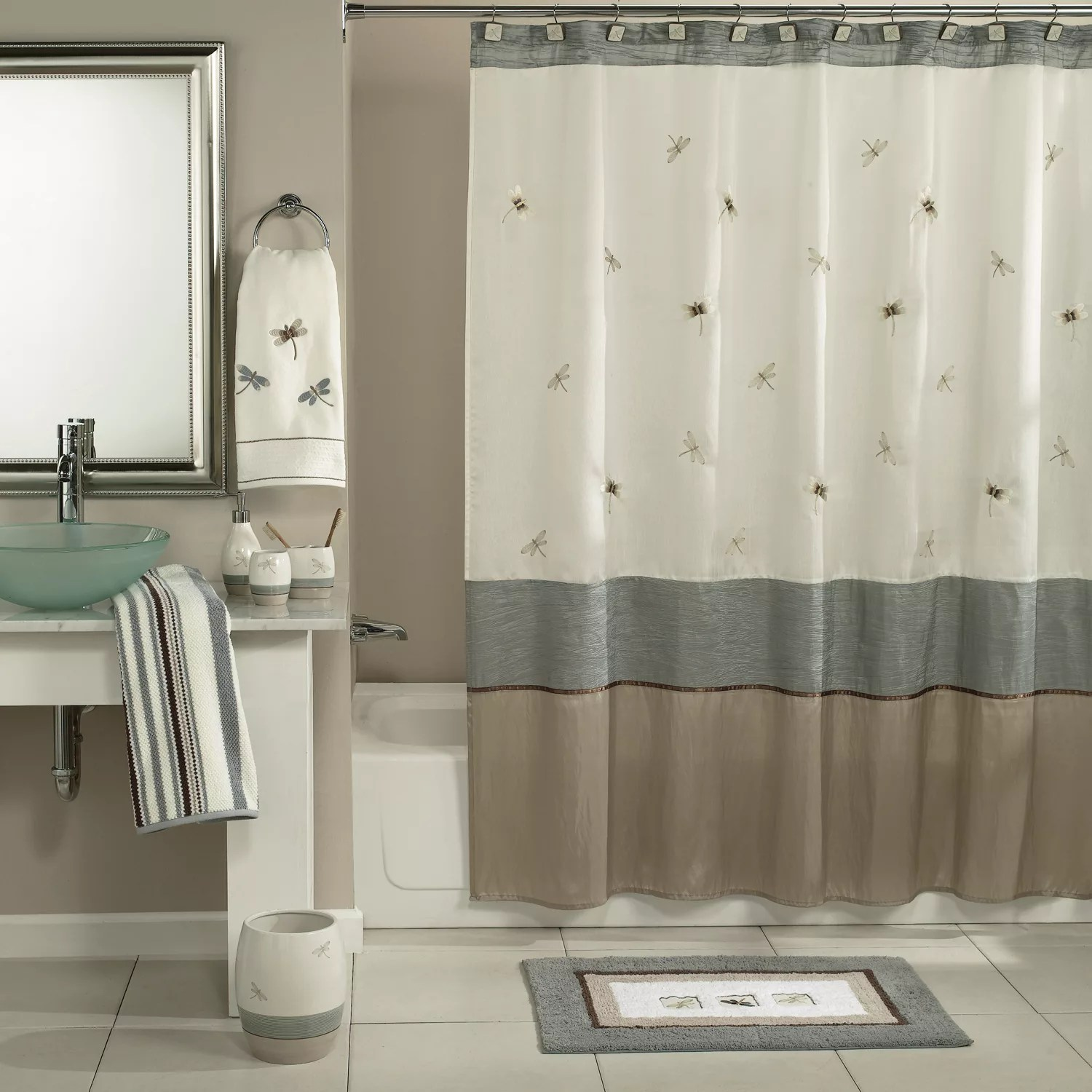 Kohls Com Shower Curtains Home Classics Shalimar Dragonfly Shower Curtain Collection