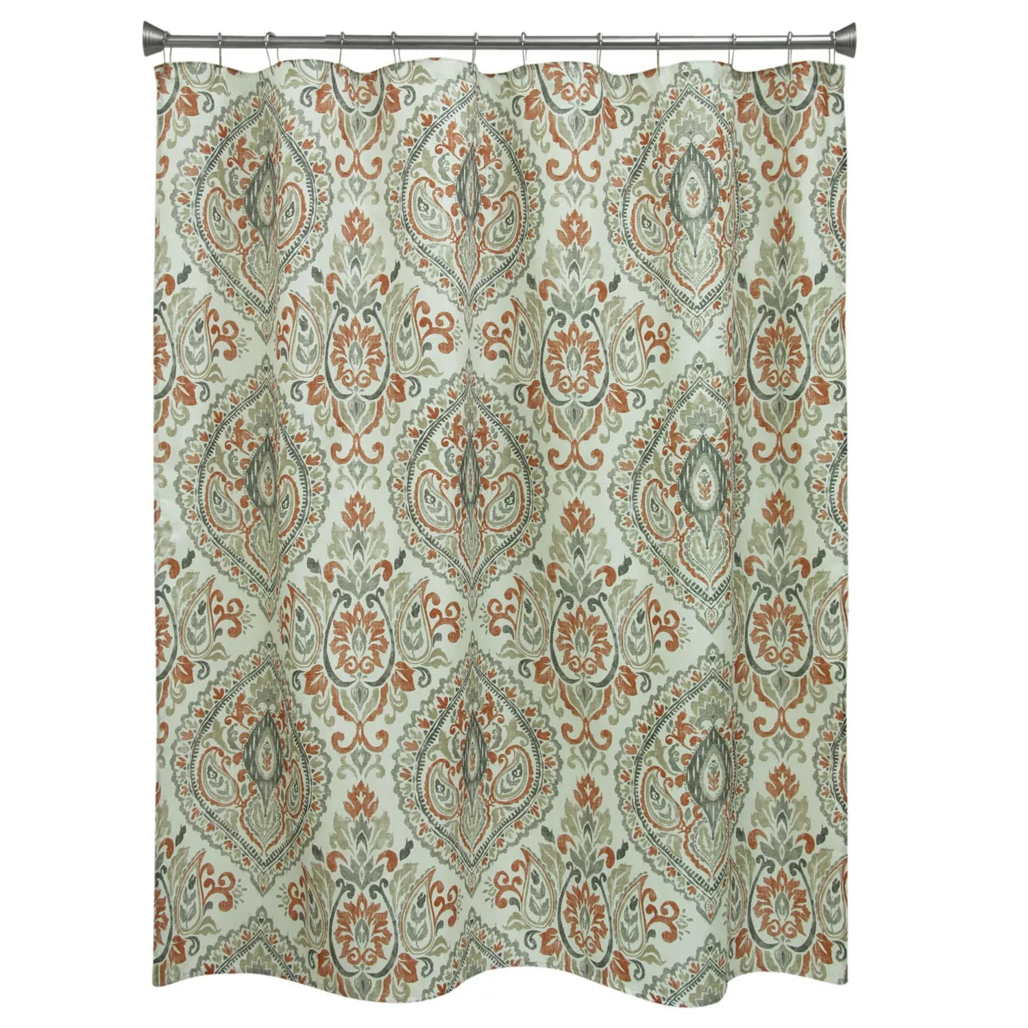 Kohls Com Shower Curtains Bacova Peyton Damask Shower Curtain Collection