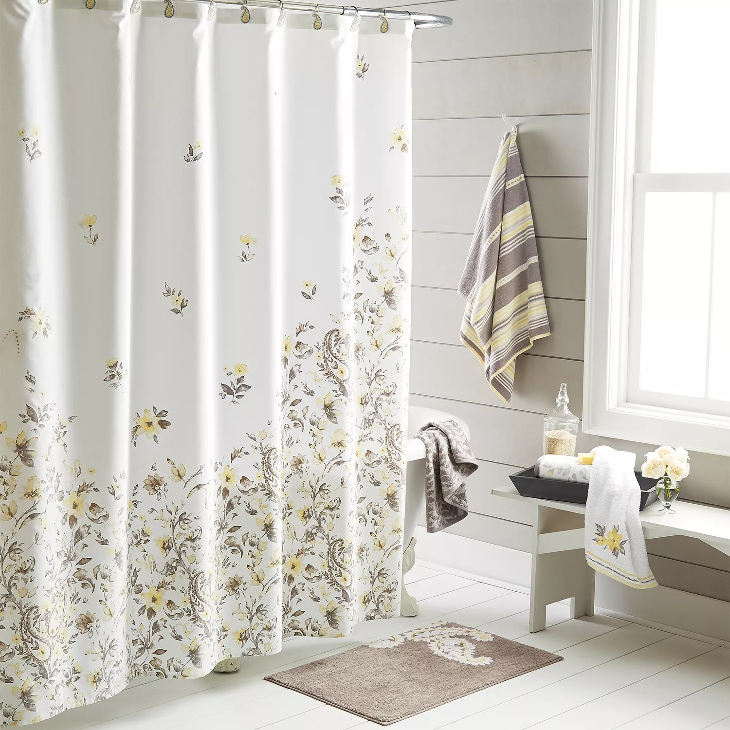 Kohls Com Shower Curtains One Home Taylor Floral Shower Curtain Collection
