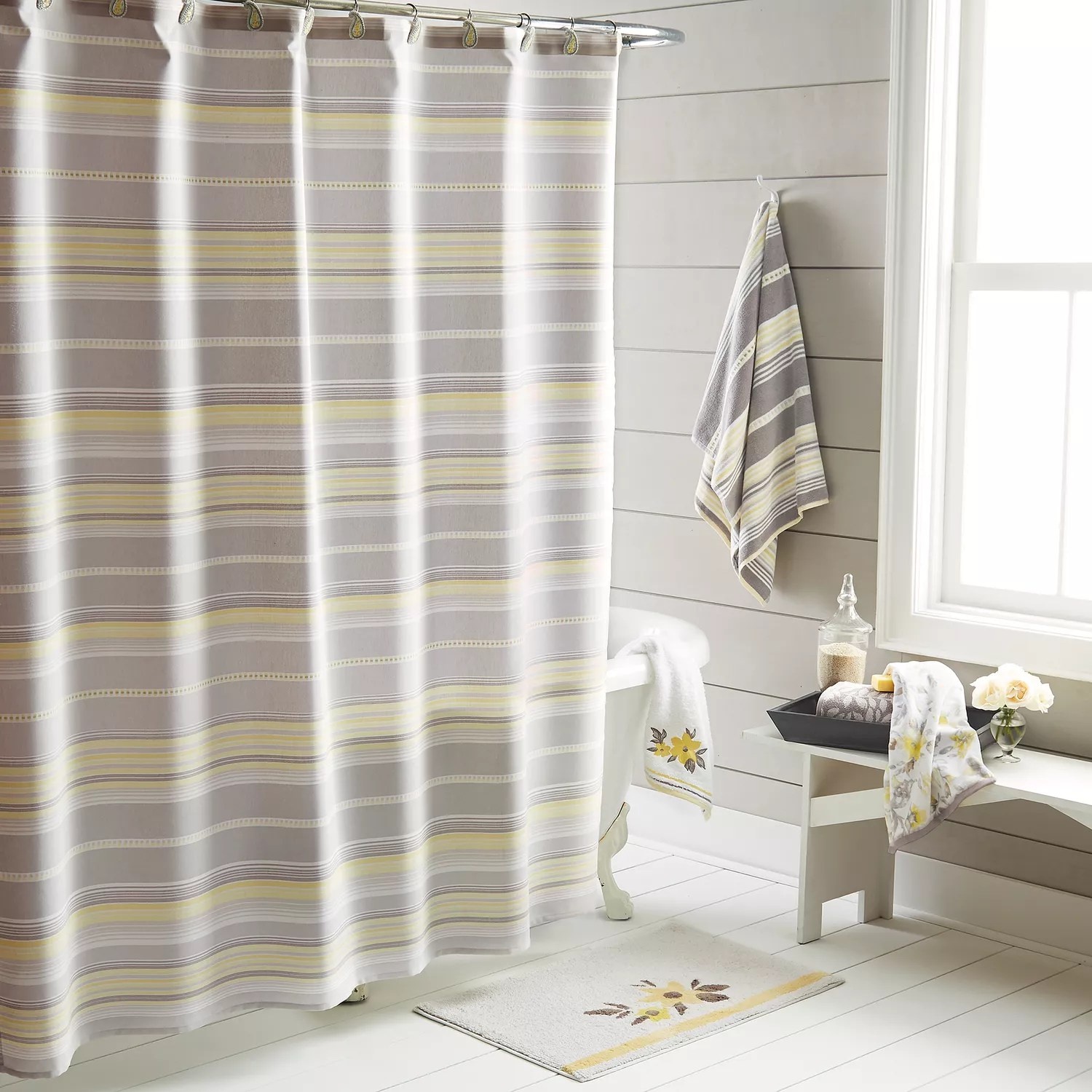 Kohls Com Shower Curtains One Home Taylor Stripe Shower Curtain Collection