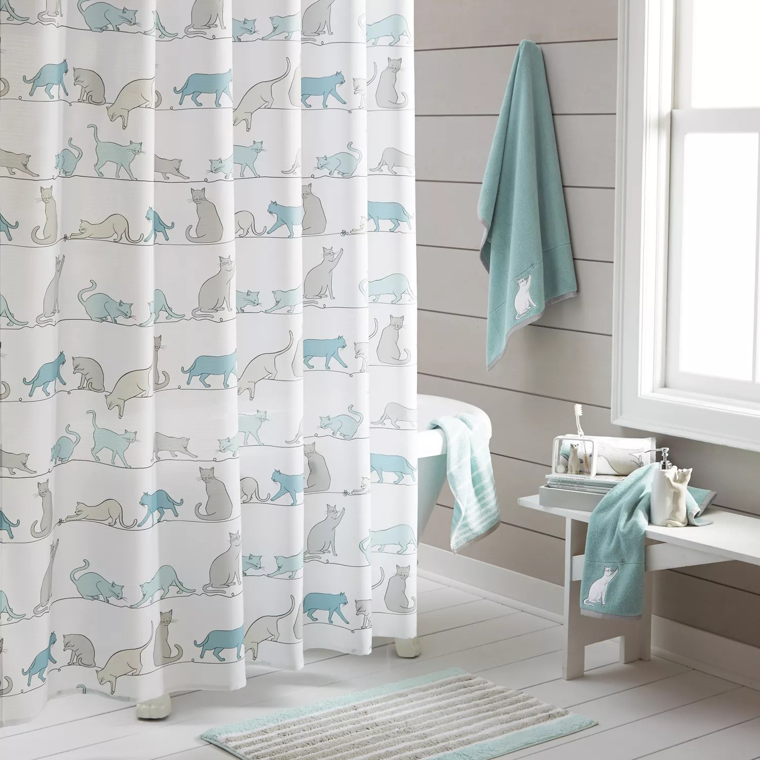 Kohls Com Shower Curtains One Home Kitty Cat Shower Curtain Collection