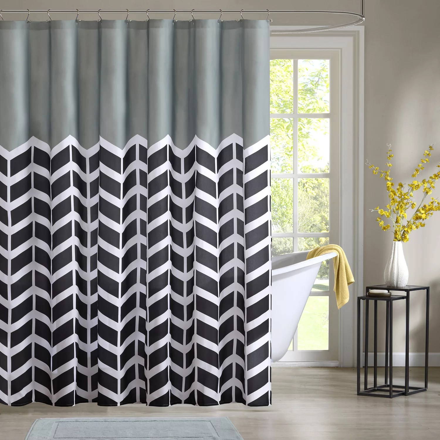 Kohls Com Shower Curtains Intelligent Design Chevron Shower Curtain Collection