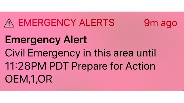 False alarm Glitch triggers call-to-action warning