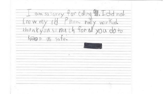 Child sends apology letter to deputies after accidentally calling 911